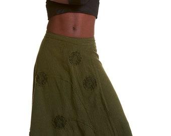 STEAMPUNK SKIRT, long wrap skirt, pixie skirt, gypsie skirt, Gekko skirt, JUSKWf