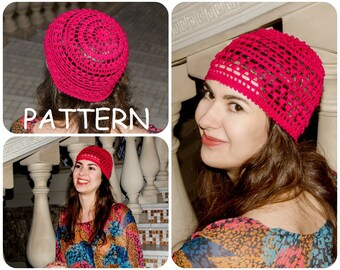 Bobble Crochet Hat Pattern - Summer Beanies Graph Instant Downloads Crochet Hat Pattern - DIY Hat Pattern - ItWasYarn Beanie Pattern