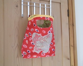 A Beautiful Handmade Bag with Butterfly Applique Design