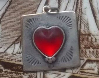 Vintage Sterling Silver Heart Charm