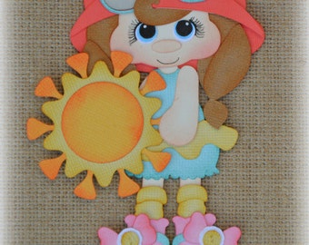 Sunshine Girl Premade Scrapbooking Embellishment Paper Piecing