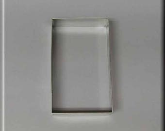 "4"" X 2-3/8"" Rectangle Biscuit  Metal Cookie Cutter #NA9148"