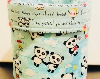 Fabric bucket, panda bucket, fabric basket