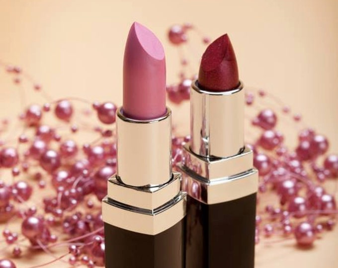 Natural Lipstick Sale! , Kiss The Chemicals Goodbye-  All Natural Chemical Free Lipstick, Long Lasting Color, Choose Pink  OR Red Lips