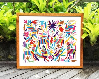 Otomi Home Decor, 8x10, 11x14, 14x18, Otomi Printable Art, Mexican Otomi Decor, Otomi Print, Otomi Download