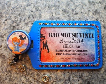 Stitch Badge Holder and Retractable Lanyard