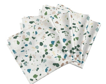 Cloth Napkin Set - Terrazzo by Holli_zollinger - Modern Terrazzo Amarela Cloth Cotton Napkins (Set of 4) by Roostery with Spoonflower Fabric