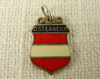 Vintage Sterling and Enamel Osterreich Charm