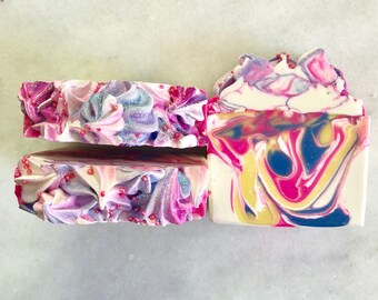 Soap Blueberry Jammin Artisan Soap, Cold Process Soap, Handcrafted Soap
