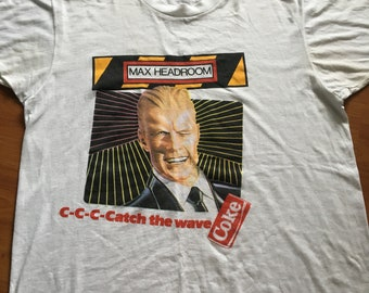 Vintage max headroom t-shirt/Free shipping