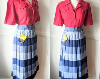 1950s • Original Vintage • Deadstock St Michael Pleated Skirt