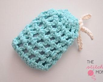 PDF Crochet Pattern - Easy Mesh Soap Saver