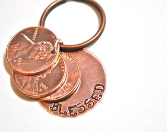 Blessed Lucky Penny Keychain