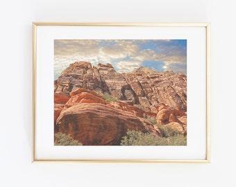 Red Rock Canyon Photography, Printable Modern Wall Art, Las Vegas Desert Photo, Canyon Photo Print, Nature Photography, Landscape photo