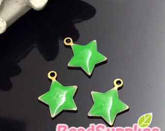 CH-EX-08001AGSD- Puffy Star Dust, Apple green, 4 pcs