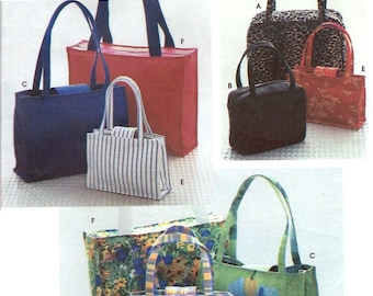 Simplicity 8331 Handbags in 2 or 3 Sizes and Tote - PATTERN
