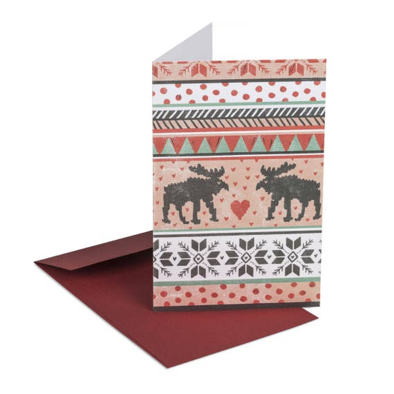 CHRISTMAS JACQUARD. First Christmas together. Love card. Winter anniversary. Warm wishes. For boyfriend. For girlfriend. Husband and wife.