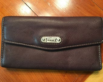 Brown Leather Fossil Wallet