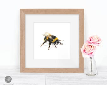 Bumble Bee Framed Print Artwork Picture
