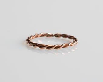 Copper Twist Ring