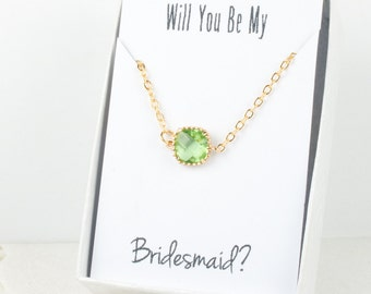 Peridot Gold Bracelet, Bridesmaid Green Bracelet, Gold Bracelet, Green Wedding Accessories, Bridesmaid Bracelet, Bridesmaid Jewelry