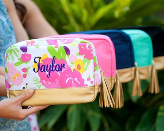 Cabana Cosmetic Bag - five great choices- great personalized bridal party gift