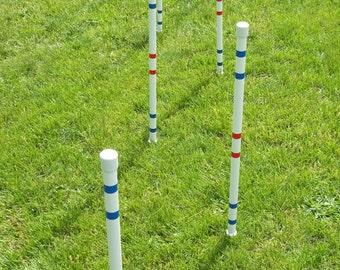 Dog Agility Equipment Weave Poles-Set of six | IN Stock and Ready to ship! UV resistant pipe. Highest quality.