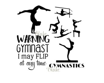 Gymnastics quote svg female gymnast collection bundle CUT file for Silhouette Wall Decal Vinyl svg Girls Room designs svg