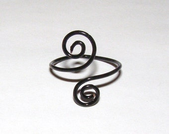 midi silver jewelry az celtic adjustable bling spiral toe pmr rings ring sterling