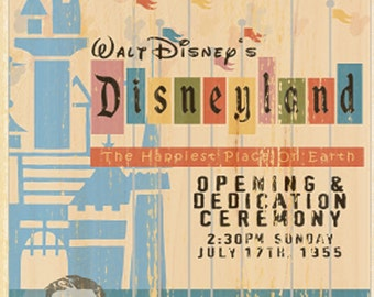 Vintage Disney Opening Ceremony Attraction Poster // Wall Art // Nursery // Kids Room // House Warming Gift // New Home // Home Sweet Home