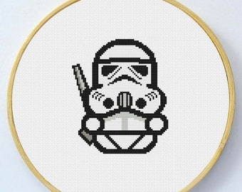 STORMTROOPER Cross Stitch Pattern - Instant Download Pdf