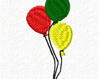 Balloons Machine Embroidery Design - Instant Download