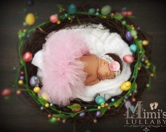 Spring tutu set in baby pink