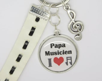 personalized key ring for a dad, Grandpa,... musician boyfriend, brother: father's day, birthday...