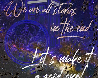 Maurauders  - Harry Potter, Tardis, maurauders map, doctor who quote, time and space, timeturner. 5x5 matt print