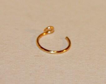 Fake Cartilage Ring - Fake Nose Ring - Clip On Nose Ring - Hoops - Hoop Nose Ring - Cartilage Ring Fake Piercings - Punk Nose Rings