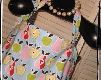 Sale-Apples and Pears HideAway Nursing Cover with Overall Buckle- Ready to Ship
