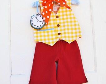 Boys White Rabbit Costume  Baby or Toddler Boys Alice in Wonderland Party