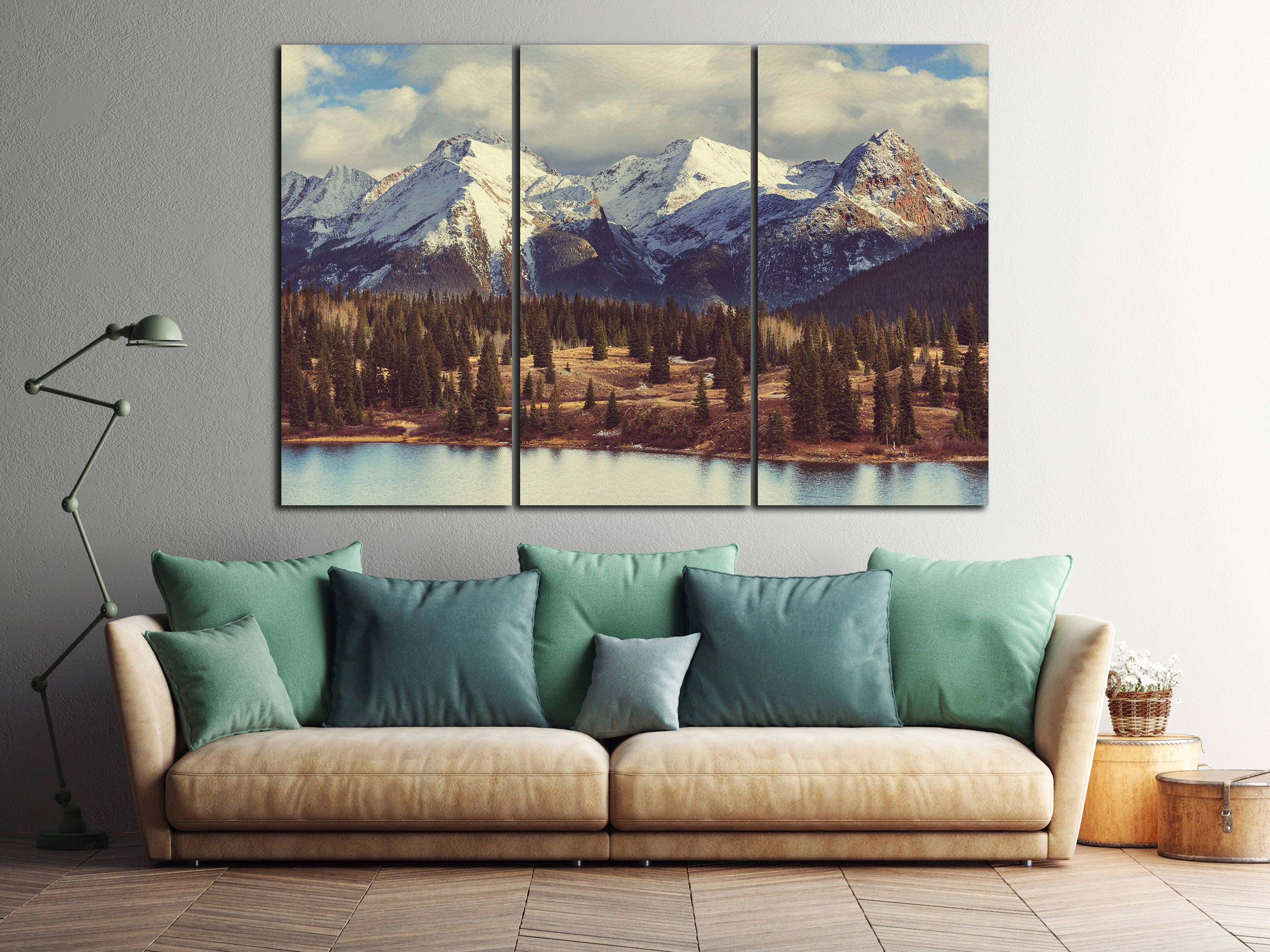 3 Panel Colorado Mountains Leather Print/Large Wall Art/Large Wall Decor/Nature Print/3 Pieces Wall Art/Made in Italy/Better than Canvas! & 3 Panel Colorado Mountains Leather Print/Large Wall Art/Large Wall ...