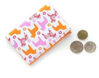 Coin Pouch Purse, Dala Horse Change Purse, Women Fabric Purse, Zipper Coin Purse, Money Zipper Pouch, Pouch Wallet Horse, Cute Gift for Her
