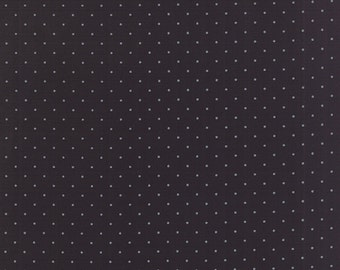 Modern Background Fabric -  Basic Pindot Zen Chic for Moda 1588 29 Black -  End of bolt 5/8 yard