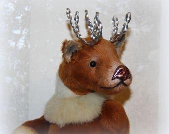 """ooak teddy deer by anna rudenko """"NORTH KID"""""""