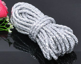 1 m braided 5mm leather cord