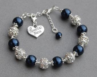Special Nana Bracelet, Grandma Gift, Nana Jewelry, Special Nana Gift, Grandmother Charm Bracelet, Gift from Grandchild, Grandma Jewelry