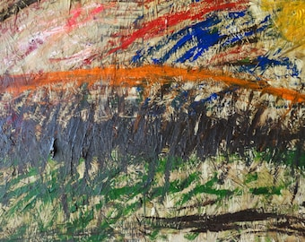 Orange Hill Without Trees 48 x 32