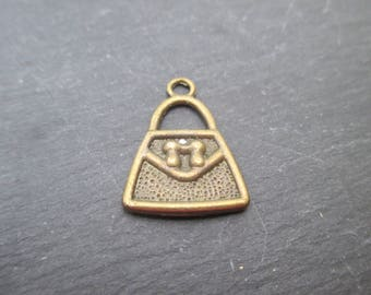Bronze metal bag charm * 1