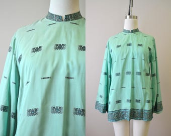 1960s Indian Mint Green Tunic