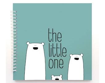 Polar bears book - Baby Book, Baby Memory Book, Baby Shower Gift, Baby Journal, Baby Album, Keepsake