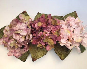 hydrangea posy. velvet hydrangea posy. velvet flowers. millinery flowers.. doll and teddy flowers. artificial flowers. corsage. bouquets.