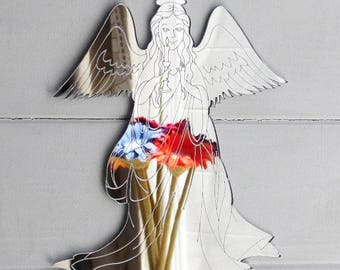 Heavenly Angel with Candle Acrylic Mirror